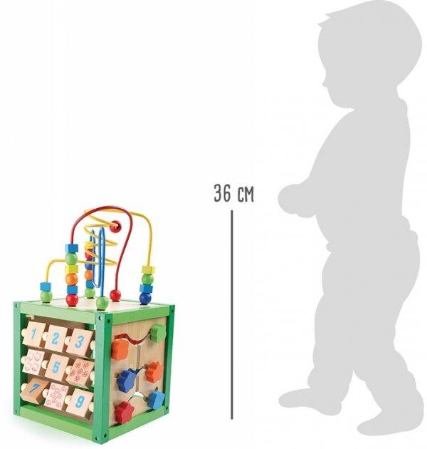 SMALL FOOT Spring Motor Skills Training Cube - kostka interaktywna