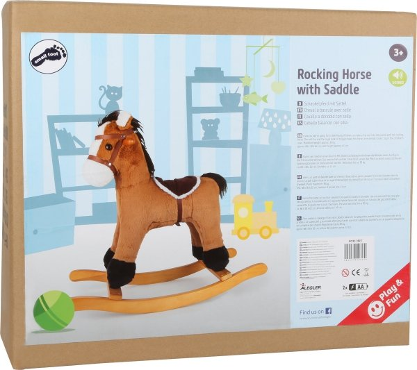 SMALL FOOT Rocking Horse with Saddle - konik na biegunach