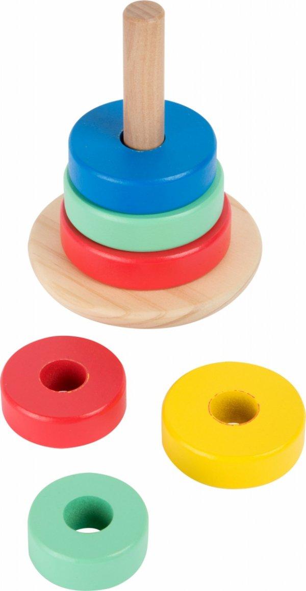 SMALL FOOT Piramida zabawka z krążków do składania