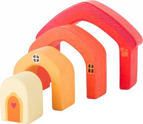 SMALL FOOT Wooden Building Blocks House - drewniane klocki ( budowanie domu)