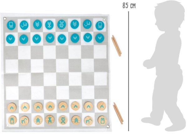 """SMALL FOOT Draughts and Chess """"Active"""" - warcaby i szachy w ogrodzie"""