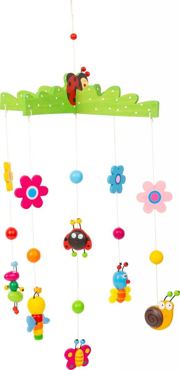 """SMALL FOOT """"Spring Dream"""" Mobile - karuzela z kolorowymi kwiatkami, motylami i ślimakami"""