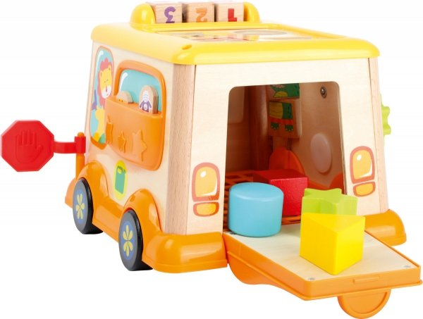 SMALL FOOT School Bus Motor Skills Toy - zabawka motoryczna na kółkach (szkolny autobus)