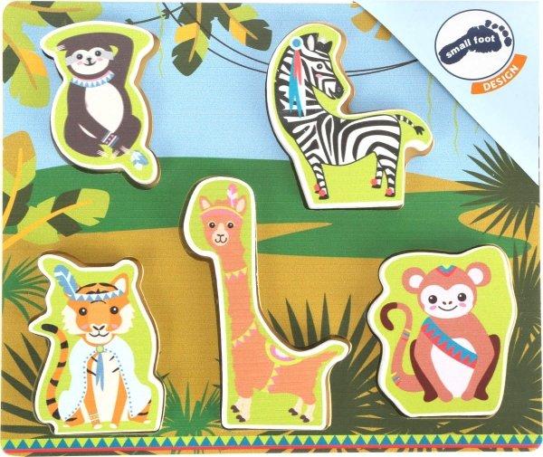 "SMALL FOOT Puzzle ""Jungle"" - drewniane puzzle (dżungla)"