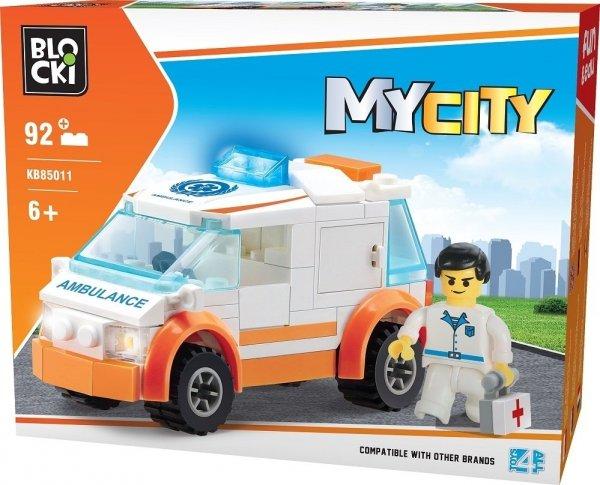 Klocki Blocki MyCity Karetka Mała 92 el.