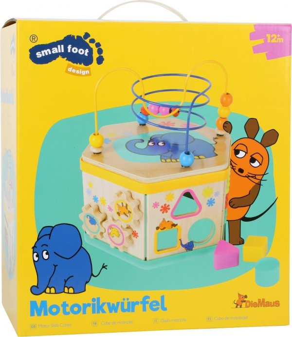 SMALL FOOT Motor Skills Cubes with the elephant - kostka interaktywna