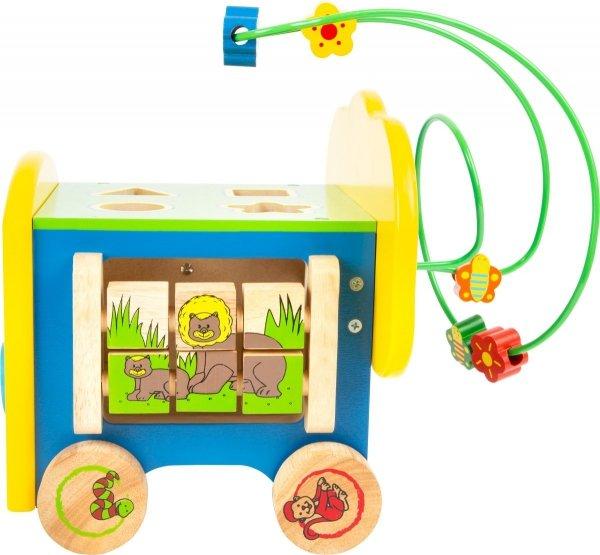"""SMALL FOOT Activity Cube """"Elephant"""" - kostka interaktywna na kółkach"""