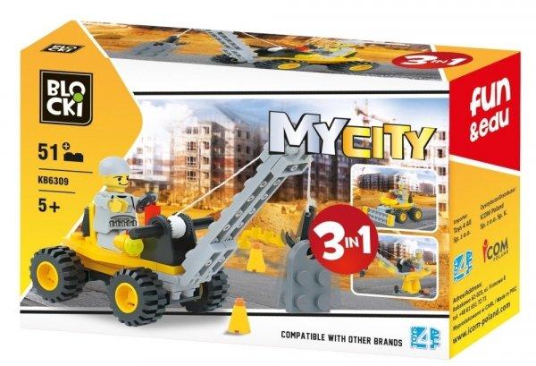 Klocki Blocki MyCity 3w1 - 51 el.