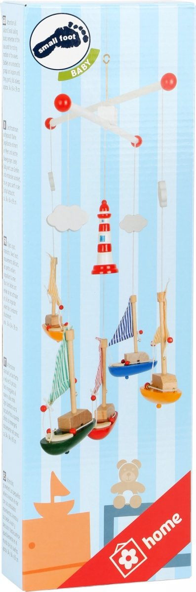 "SMALL FOOT Mobile ""Sailboat and Lighthouse"" - karuzela ze statkami"