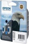 Tusz (Ink) T007 black do Epson Stylus Photo 870/890/915/1270/1290, wyd. do 2x540 str. - Dwupak