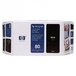 Tusz (Ink) HP 80 black (350ml) do DnJ 1050C/1050C+/1055CM/1055CM+ C4871A