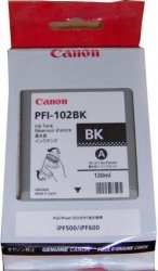 Tusz CANON PFI-102BK 130 ml black do IPF500/510/600/605/610/650/655/710/720/750/755/760/765 LP17/24