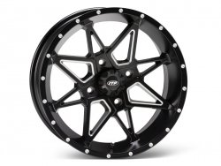 ITP TORNADO 17x7 4+3 4/156 Matte Black with milled 1721962727B