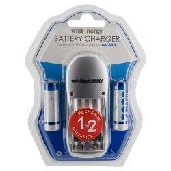 Whitenergy Ładowarka do Akumulatorów 2xAA/AAA 230V 2xAA 2800mAh Ni-Mh