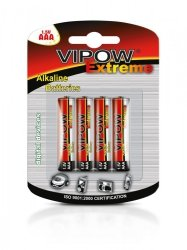 VIPOW Baterie alkaliczne EXTREME LR03 4szt./bl.