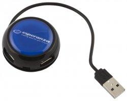 Esperanza HUB 4 PORTY USB 2.0 YOYO NIEBIESKI EA135B