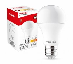 Toshiba Lampa LED 8,5W 230V 806lm  b.ciepły A60