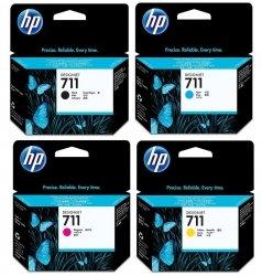 Zestaw tuszy HP 711 Black + 711 CMY do T120/T520