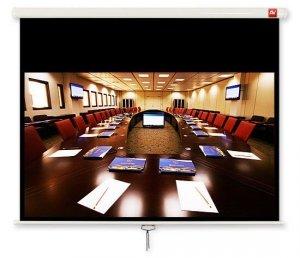 AVTek Ekran ścienny ręczny Cinema 240, 16:9, 240x200 cm, powierzchnia biała, matowa
