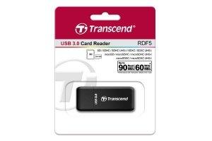 Transcend Czytnik kart pamięci SD/MicroSD USB3.0 czarny