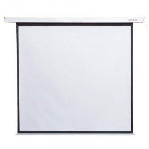 4world Elektryczny ekran projekcyjny ścieny/sufitowy z przełącznikiem 178X178 1:1 biały matowy