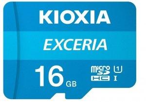 Kioxia Karta pamięci microSD 16GB M203 UHS-I U1 adapter Exceria