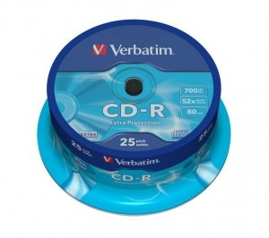 Verbatim CD-R 52x 700MB 25P CB DL Ex Prot 43432