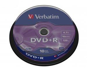 Verbatim DVD+R 16x 4.7GB 10P CB           43498