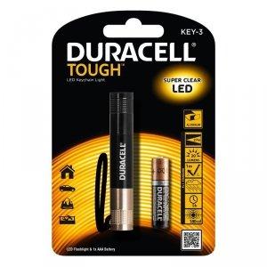Duracell Latarka LED TOUGH KEY-3, wodoodporna + 1x AAA