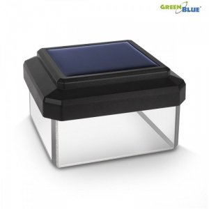 GreenBlue Lampa solarna na słupek LED 60x40 GB125 Daszek kopertowy