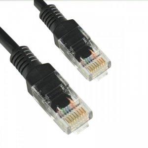 4world Patchcord kabel sieciowy UTP Cat. 5e 0,5m czarny