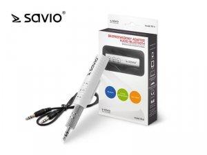 Elmak Odbiornik / adapter Bluetooth transmiter AUX Jack 3,5 Savio TR-11/W