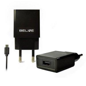 Beline Ładowarka sieciowa USB + microUSB 1A czarna