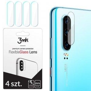 3MK Szkło hybrydowe FlexibleGlass Lens Huawei P30 Pro na obiektyw aparatu 4 szt