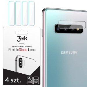 3MK Szkło hybrydowe FlexibleGlass Lens Samsung S10 G973 na obiektyw aparatu 4 szt