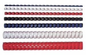 Fellowes Grzbiet plastikowy okrągły 10mm czerwony, 100 sztuk