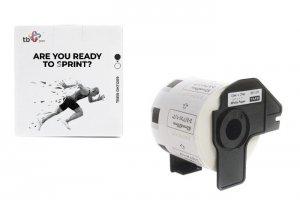 TB Print Etykiety TBEB-DK11209 Brother Czarny na Białym 62x29mm800szt