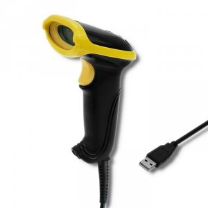 Qoltec Laserowy czytnik kodów 1D | 2D | USB |Czarny