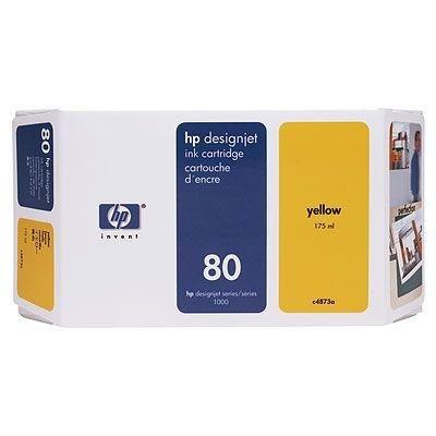Tusz (Ink) HP 80 yellow (350ml) do DnJ 1050C/1050C+/1055CM/1055CM+ C4848A