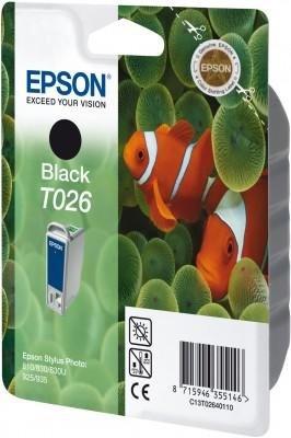 Wkład czarny Stylus do Epson Photo 810/830/Stylus Photo 925 T026
