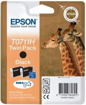 Dwupack tuszy czarnych do Epson D78/92/DX4000/4050/5000/5050/6000/6050/7000F/7400/8400/9400 T0711