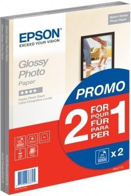 Dwupack papieru Epson Glossy Photo Paper 225g/m, 2x20 arkuszy A4 S042179