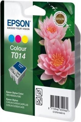 Wkład kolorowy do Epson Stylus Color 480/580/C20SX/C40UX. Wydajność: 190 stron. T014