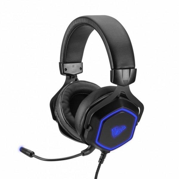AULA Gaming Słuchawki z mikrofonem dla graczy Hex USB 7.1 (z podświetleniem)