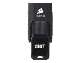 Corsair VOYAGER Slider X1 64GB USB3.0 Read 130MBs, Capless Design,      Plug and Play