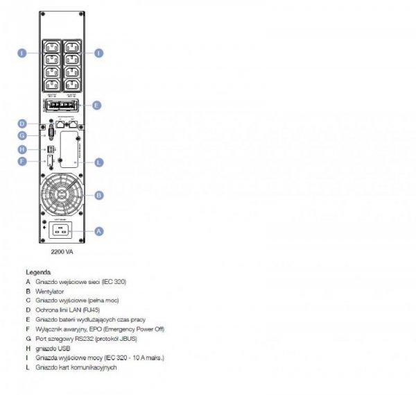Socomec NETYS PR 2200VA/1800W AVR/LCD/USB/8XIEC/EPO Tower/Rack