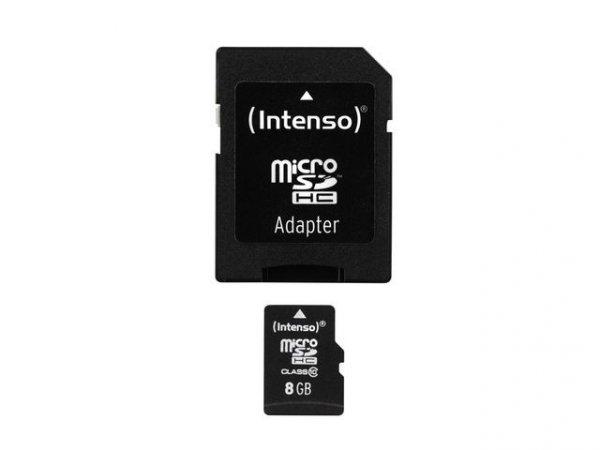 Intenso Micro SDHC 8GB Class 10 + Adapter