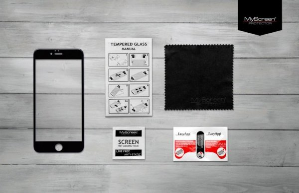 MyScreen Protector LiteGLASS EDGE Szkło do LG K10 (7)Czarny