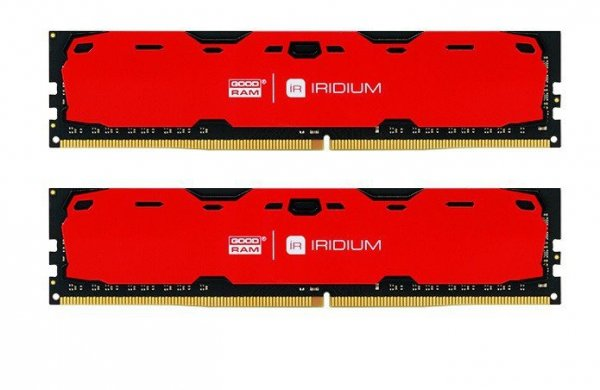GOODRAM DDR4 IRIDIUM 8GB/2400(2*4GB) 15-15-15 512*8 Czerwona