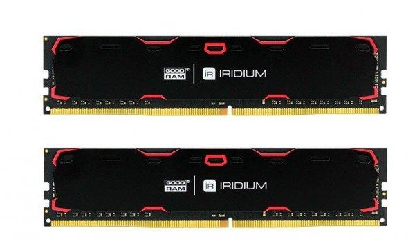 GOODRAM DDR4 IRIDIUM 16GB/2400 (2*8GB)1024*8 Czarna